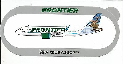 AIRBUS STICKER AUTOCOLLANT A320neo FRONTIER AIRLINES WILBUR - NEUF