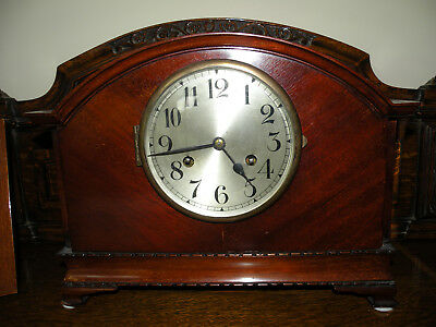 Mantel Clock, Antique wood