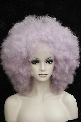 Light purple Afro fluffy Cosplay Anime wig Carnival party Hair Wigs ATLZ06
