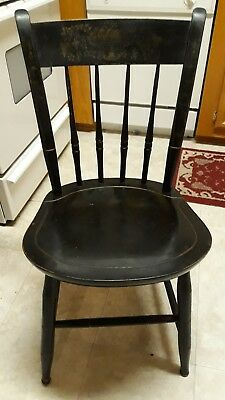 Original Nichols & Stone Antique Thumb Back Chair