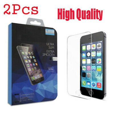 2Pcs High Quality Real Tempered Glass Screen Protector For Iphone Se 5S 5C Case