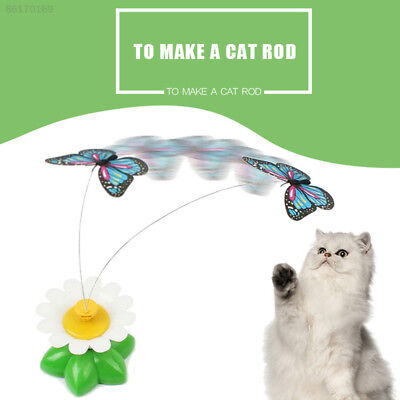 2687 Pet Kitten Electric Rotating Bird Flower Colorful Cat Teaser Wire Toys