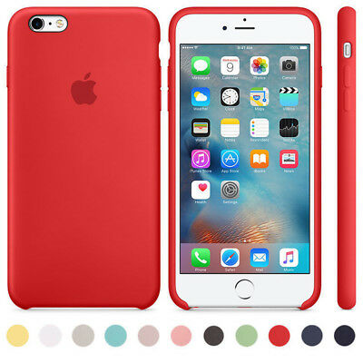 Authentique Officiel silicone souple case cover Pour apple iphone X 8 7 6s plus
