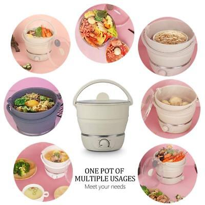 Multi-function Electric Skillet Portable Travel Folding Electric Hot Pot Home