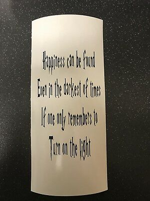 Dumbledore Quote Harry Potter Vinyl Lantern/Vase/Bottle Decal
