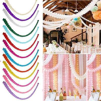 3m Paper Garland Bunting Banner Birthday Wedding Party for Hanging Decorations