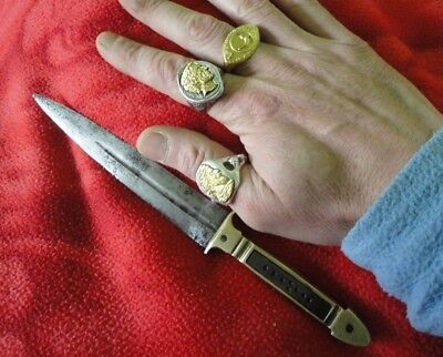 Ancient Roman Byzantine Combat Fighting Dagger Iron blade and Bronze Bone Handle