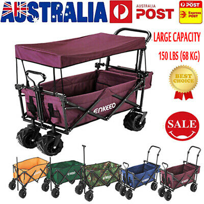 Foldable Wagon Collapsible Trolley Sports Outdoor Cart Camping Beach Concert HOT