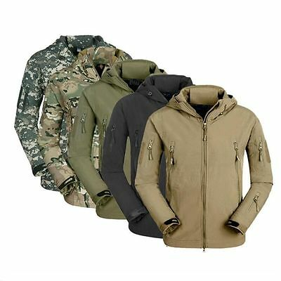 Men's Airsoft Military Tactical Jacket TAD Hunting Waterproof Hoodie Coat.