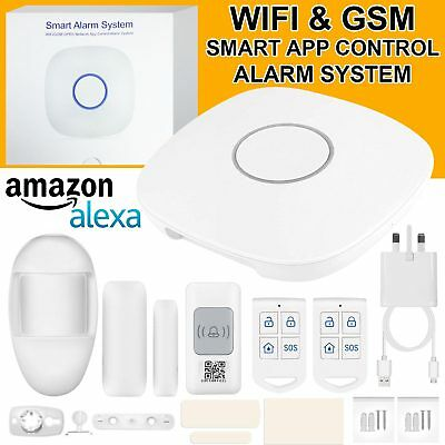 433MHz WiFi Wireless GSM SMS Burglar Alarm System Kit Smart Home Security Kit UK