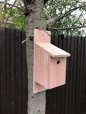 Purpose made hardwood bird box ideal for a Birthday gift.