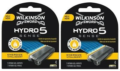 Wilkinson Sword Hydro 5 Energize Razor Blades 2 x 4 Packs Mens Shaving Genuine