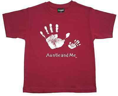 "New Boys T-Shirt ""AUNTIE AND ME""  -Kids Boys or Girls - Top Tee sizes: 0,2,4,6,8"