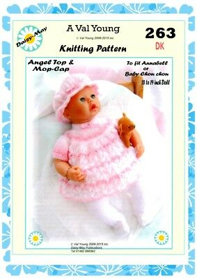 """1 x DOLLS KNITTING PATTERN **253** for 18/""""//19/"""" doll a Daisy May pattern"""