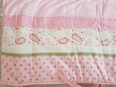 Mothercare Pink Flowered Cot Bumper
