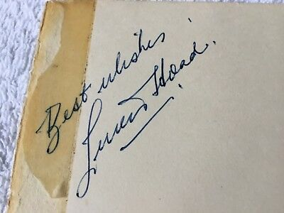 TENNIS PLAYER LEW HOAD Wimbledon Champion Autograph Signed Album Page