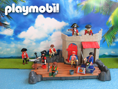 playmobil ® pirates  ★ Piratenfestung ★ Top-Set mit 8 Piraten und Schatz