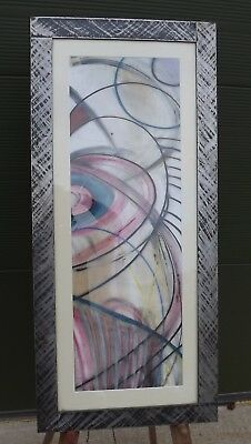 Framed Christopher Townsend Modern Art Mixed Media Painting