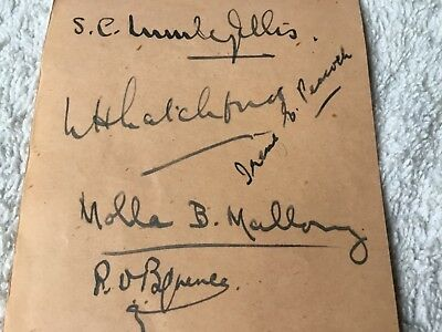 TENNIS PLAYER MOLLA MALLORY 8 time us open Champion Autograph Signed Album Page