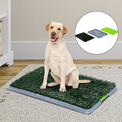 PawHut Dog Toilet Puppy Mat Indoor Cat 3 Layers Tray Grass Litter Pad Placemat