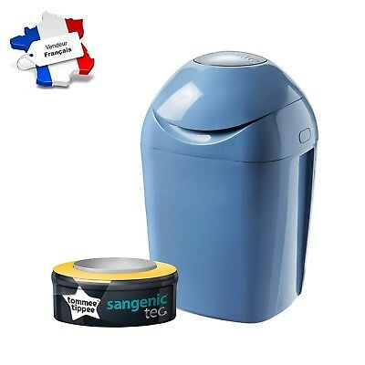 Tommee Tippee  - Poubelle à Couches Sangenic Tec Odeur, Bleu Bebe New Nice