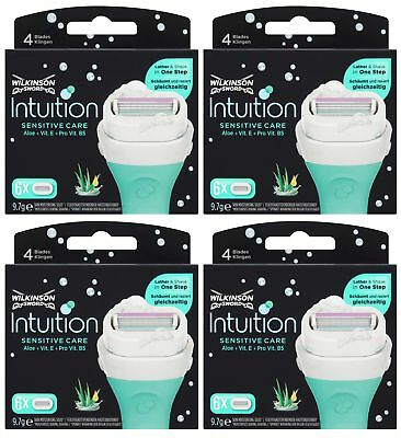 Wilkinson Sword Intuition Sensitive Razor Blades 4x6 Packs Womens Shave Genuine