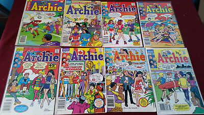 Archie Comics Lot of 8 Different Number Issues  Archie Reading Copies