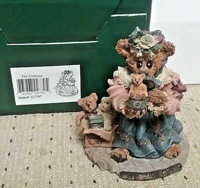 """need a gift 4 your shopper  BOYDS BEARSTONE COLLECTION """"THE COLLECTOR"""" 1E/2684"""
