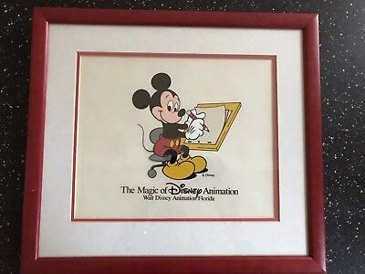 Disney, Mickey Mouse Animation Cel, 1997, Signed David Rippberger, Framed