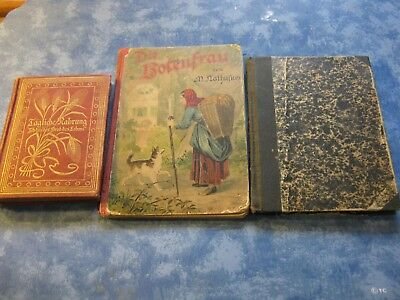 Lot Of 3 Antique German Church Prayer And Christian Story Books Hc