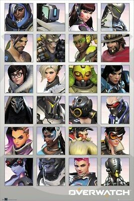 A4 A3 A2 A1 A0  Overwatch Blizzard Characters Poster Print T522