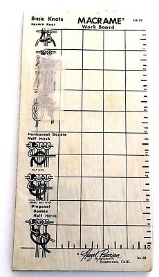 Hazel Pearson Macrame Work Board With Pins Knot Tying Guide Jewelry HK97 No. 09