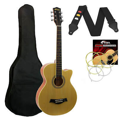 Full Size Acoustic Guitar in Natural - Small Body Cutaway