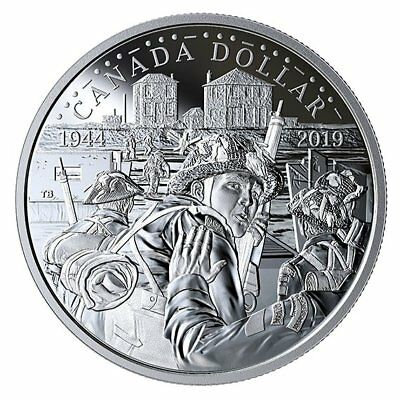 75Th Anniversary Of D-Day – 2019 Proof Silver Dollar – Royal Canadian Mint