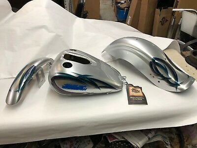 Harley 2004 2005 Dyna FXD Factory Paint set gas tank Fenders Ellipse #144 of 150