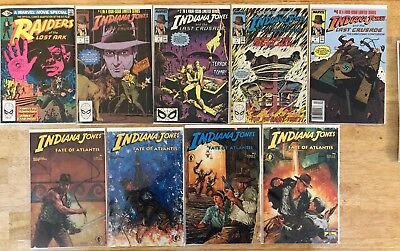 Lot Of 15 Indiana Jones Comic Books from Marvel And Dark Horse. 1981-1994