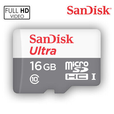 SanDisk 16GB  Ultra Micro SD HC Class 10 TF Flash SDHC Memory Card mobile
