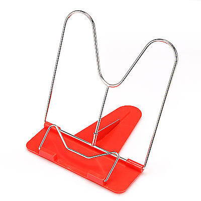 Book Holder Stand Portable Adjustable Angle Document Reading Tool Foldable Red