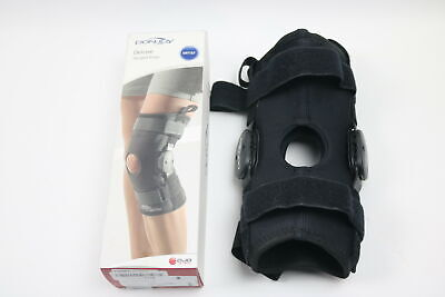 d33861cd1a DonJoy Deluxe Hinged Knee Brace, Drytex Sleeve, Open Popliteal, Small