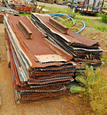 """9' Corrugated Roofing Tin (26"""" W) Galvanized Roof w Patina Winchester, Virginia"""