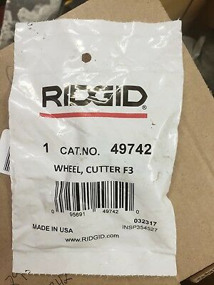 Ridgid 49742 replacement pipe cutter wheels F3   1 pack of 2 wheels