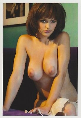 Postcard Pinup Risque Nude Stunning Girl Extremely Rare Photo Post Card 8950