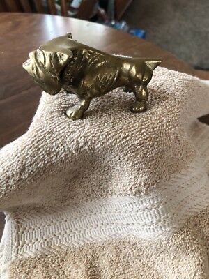 "vintage brass bulldog 4""x2"" Heavy"