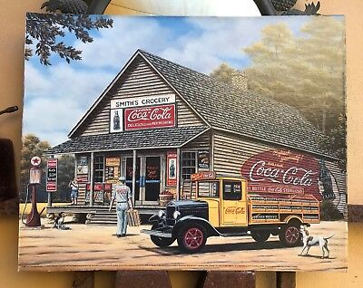 Coca Cola Print 16 x 20 Pamela Renfroe - Smith's Grocery Store Pre-owned