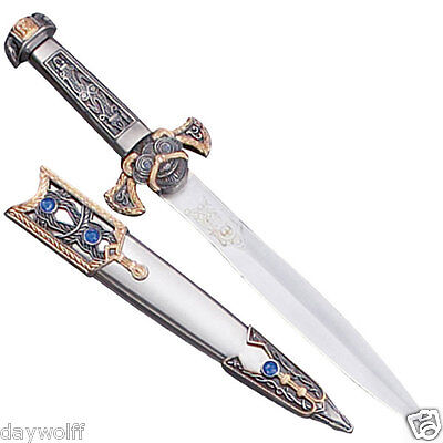Athame Two Tone Beautiful Medieval Ritual Dagger With Blue Stones, Wicca Pagan