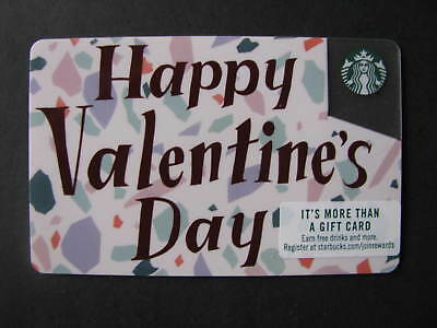 Starbucks Gift Card Collectable - 2019 Valentine (Clear Corner) - No Cash Value