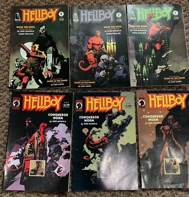 Odd Lot of 11 HELLBOY COMICS: Wake the Devil, Corpse, Conqueror Worm, Xmas etc.