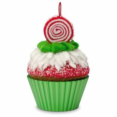 Hallmark Ornament 2016 Peppermint Swirl- Christmas Cupcakes - Realistic