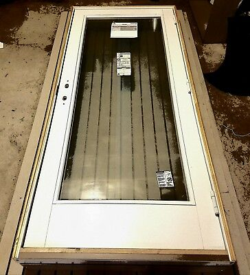New Anderson 400 Series Frenchwood Hinged Entry Door Full Glass Multi Lock White
