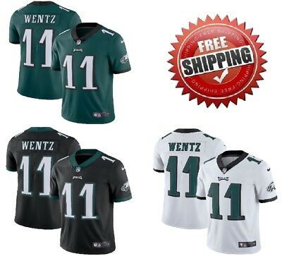 19ee418b5fb Men's #11 Carson Wentz Philadelphia Eagles Vapor Untouchable Jersey Stitched